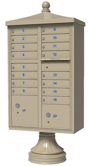 Florence Traditional Vogue Accessories for 13 or 16 Door CBU Mailboxes