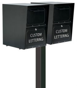Large Oasis Mailboxes Dual Standard Post