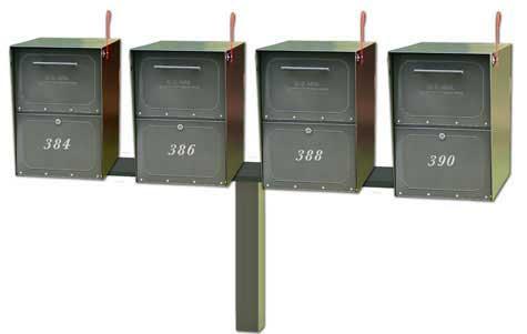 Medium Oasis Mailboxes Quad Standard Post