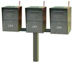 Medium Oasis Mailboxes Tri Standard Post