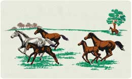 Bacova Mailbox Running Horses 10036