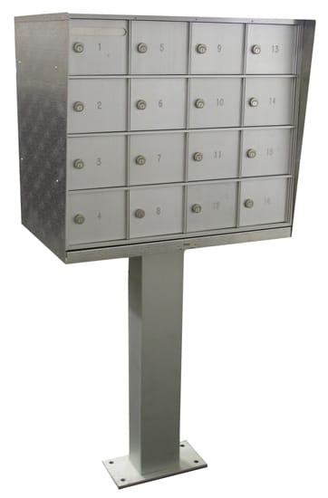 Pedestal 16 Door Cell Phone Lockers