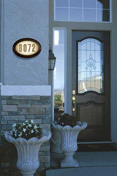 QualArc Edgewood Oval Address Plaque Installed