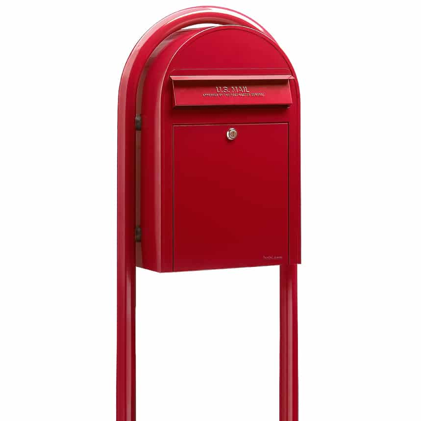 Bobi Classic Front Access Mailbox with Round Post Product Image