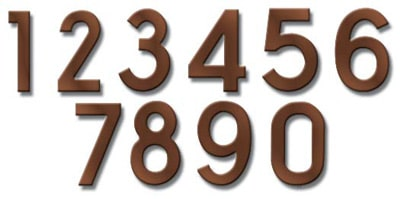 Fuoriserie Ecco Antique Copper 4 Inch House Numbers