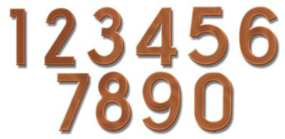 Fuoriserie Ecco Copper 4 Inch House Numbers