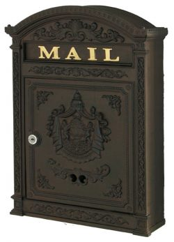 Ecco 6 Victorian Wall Mount Mailboxes