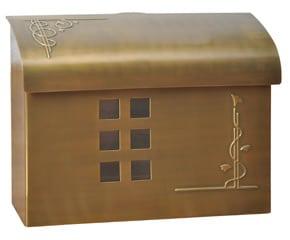 Ecco 7 Mailbox Satin Brass