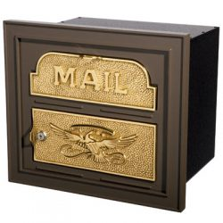 Classic Faceplate Locking Wall Mount Mailbox