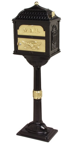Classic Locking Mailbox with Pedestal Post