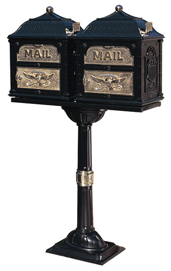 Gaines Classic Mailboxes Double Pedestal Post