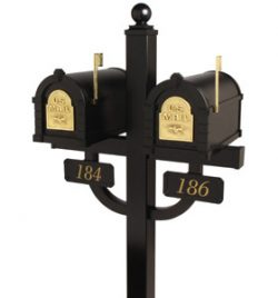 Locking Keystone Mailboxes Double Deluxe Post