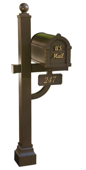 Gaines Signature Keystone Mailbox Deluxe Post