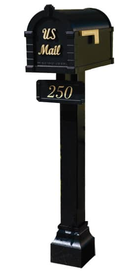 Gaines Signature Keystone Mailbox Standard Post