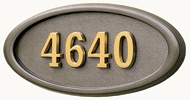 Gaines Large Oval Bronze Brass Numbers
