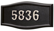 Gaines Large Roundtangle Black Nickel Numbers