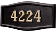 Gaines Large Roundtangle Black Brass Numbers
