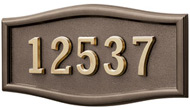 Gaines Large Roundtangle Bronze Brass Numbers