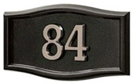 Gaines Small Roundtangle Black Nickel Numbers
