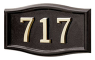 Gaines Small Roundtangle Black Brass Numbers