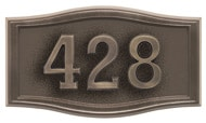 Gaines Small Roundtangle Bronze Antique Numbers