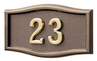 Gaines Small Roundtangle Bronze Brass Numbers