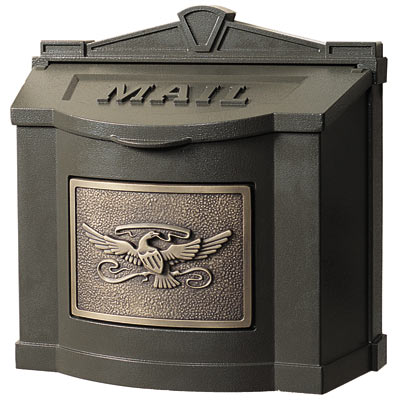 Gaines Eagle Locking Wall Mount Mailbox
