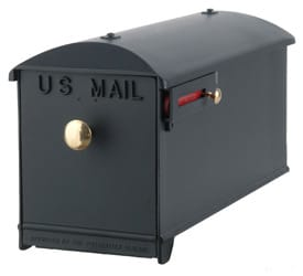 Imperial Mailbox and Post Black