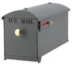 Imperial Mailbox and Post Gray