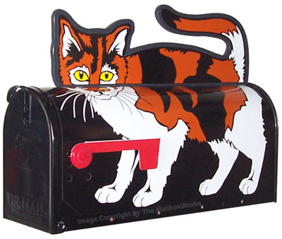 Calico Cat Novelty Mailboxes