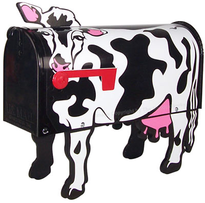 Holstein Cow Novelty Mailbox