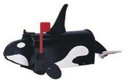 Orca Whale Novelty Mailbox