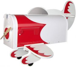 Racing Plane Novelty Mailbox