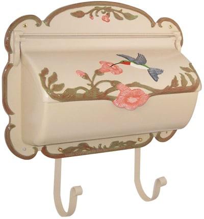 Hand Painted Hummingbird Wall Mount Mailboxes