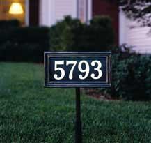 Whitehall Illuminator Address Plaque Lawn Stake