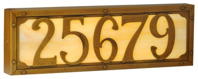America's Finest Willoglen Illuminated House Numbers