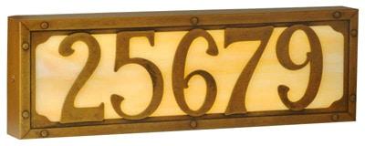 Illuminated House Numbers Willoglen Art Gl Led Backlit