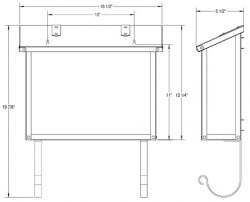 America's Finest Large Wall Mount Mailbox Dimensions