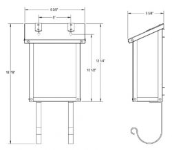 America's Finest Vertical Wall Mount Mailbox Dimensions