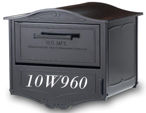 Geneva Post Mount Mailbox Front Lettering