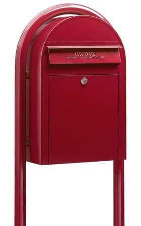 Bobi Classic Front Access Mailbox with Round Post