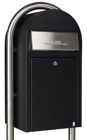 Bobi Grande Front Access Mailbox with Round Post