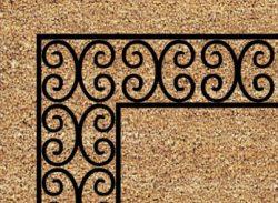 Charleston Border Door Mat Close Up