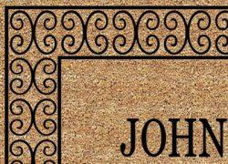 Charleston Name Door Mat Close Up