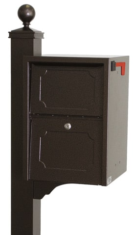 dVault Junior Delivery Vault Mailbox with Deluxe Post