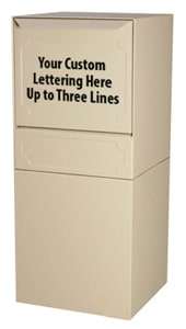 dVault Curbside Post Mount Lettering Options