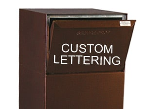 dVault Package Drop Vault Custom Lettering