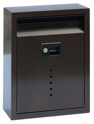 Ecco 10 Wall Mount Mailbox Bronze