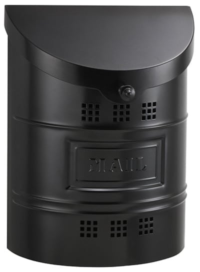 Ecco Black Wall Mount Mailbox