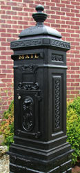 Ecco 8 Tower Mailbox Satin Black